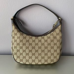 Gucci Small GG Canvas/Leather Mini Shoulder Hobo